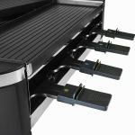Artestia Electric Dual Raclette Grill with Cast Aluminum Reversible Grill Plate, Easy Setup in 360° Rotation, Serve the whole family (Reversible Aluminum Grill Plate)4