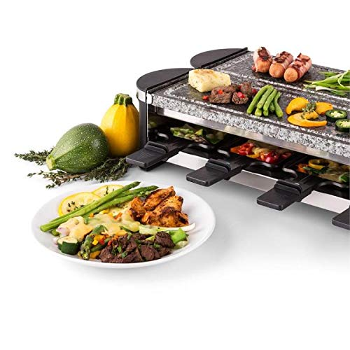Artestia Electric Dual Raclette Grill with High Density Grill Stones, Easy Setup in 360° Rotation, Serve the whole family (Dual Stone Raclette)5