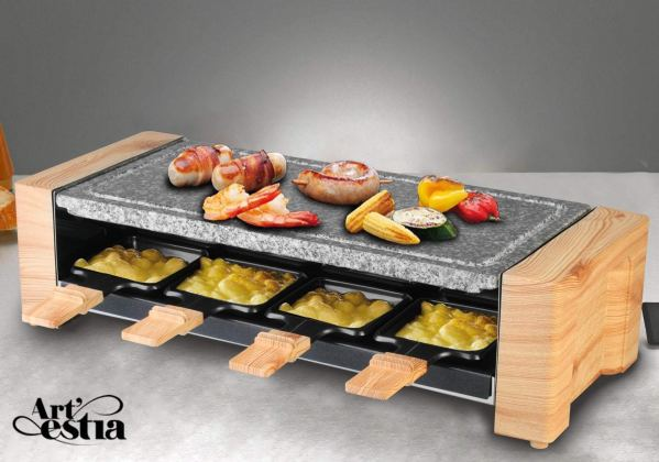 Artestia Electric Raclette Grill with High Density Granite Grill Stone,1600W High Powe