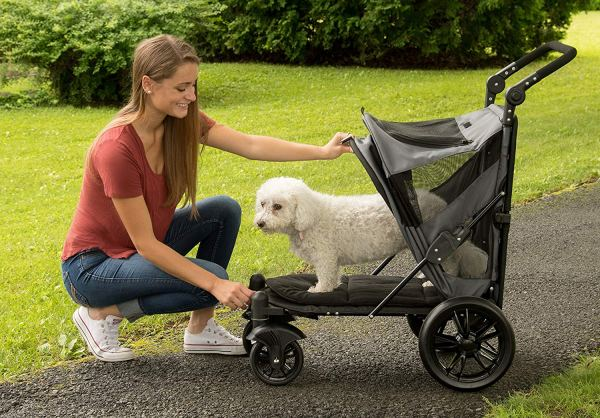 Pet Gear NO-Zip Stroller, Botão Zipperless Entrada Dupla, para4