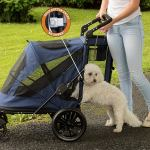 Pet Gear NO-Zip Stroller, Push Button 3