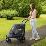Pet Gear NO-Zip Stroller, Push Button 4