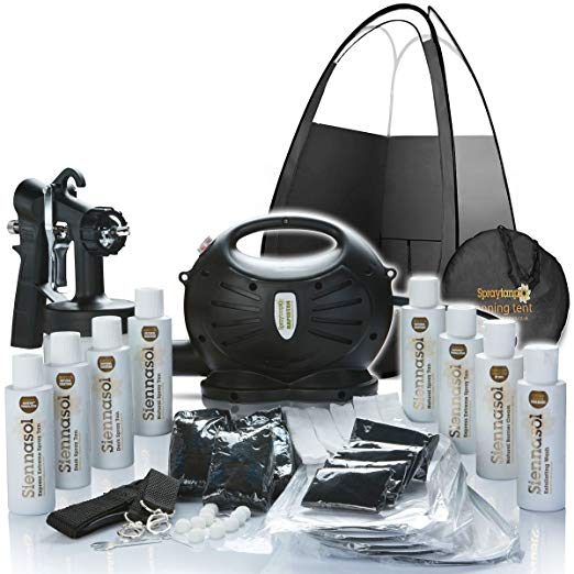 Rapidtan System Professional HVLP Spray Tan Kit with Supplies