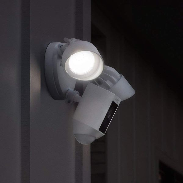 Ring Floodlight Camera Motion-Activated HD Security Cam Two-Way Talk and Siren Alarm, White4