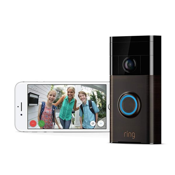 Ring Wi-Fi Enabled Video Doorbell in Venetian Bronze, Works with Alexa2