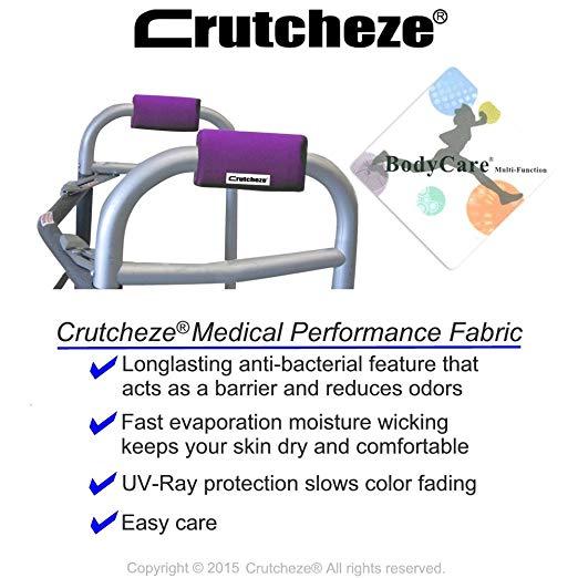 Crutcheze Deep Purple Walker Acolchoado Mão Grip Covers Made in EUA Umidade Wicking, Antibacteriano, Conforto, Moda, Lavável Acessórios Ortopédicos Produtos 3