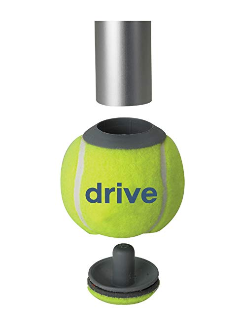 Drive Medical Deluxe Walker Rear Tennis Ball Glides, Yellow 3