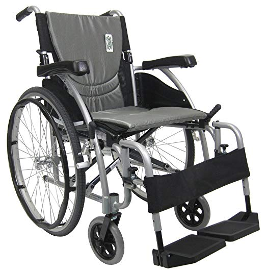Karman Healthcare S-115 Ergonomic Ultra Lightweight Manual Wheelchair, Rose Red, 18 Inches Seat Width2
