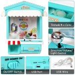 Mini Máquina de pegar brinquedos, bichinhos, doce com Exposição de luz multi-cor, música, moedas3