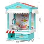 Mini Máquina de pegar brinquedos, bichinhos, doce com Exposição de luz multi-cor, música, moedas8