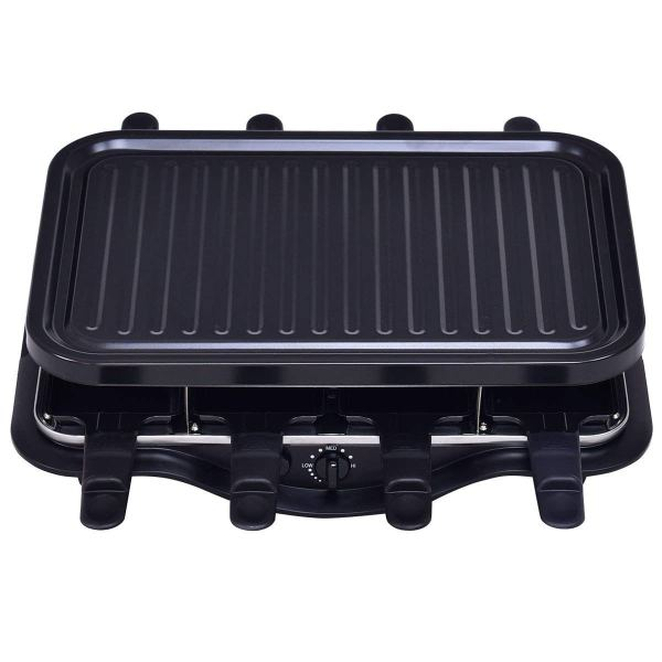 Racleteira para 8 pessoas Costzon Raclette Grill, 1200W for 8 People Non Stick Cooktop3