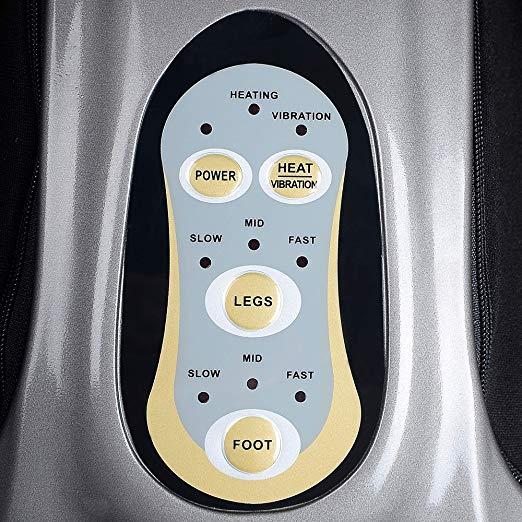 Shiatsu Foot Calf Massager Leg Massager with Kneading Rolling Vibration Heating 4