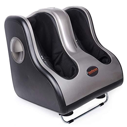 Shiatsu Foot Calf Massager Leg Massager with Kneading Rolling Vibration Heating 5