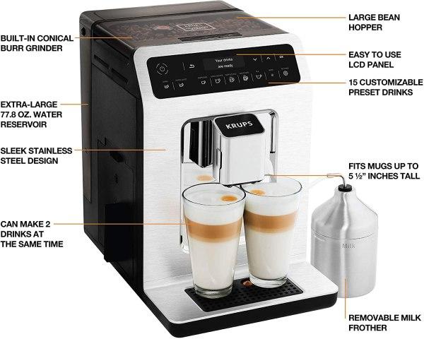 Máquina automática de café e cappuccino KRUPS EA89 1