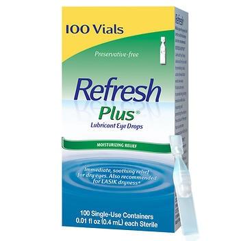 Colírio Lubrificante Refresh Plus – 100 recipientes descartáveis