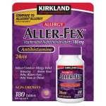 Kirkland Signature Aller-Fex Anti-histamínico180 mg.-180 comprimidos