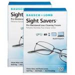 Lenços de limpeza de lentes protetoras de visão – 200 tecidos
