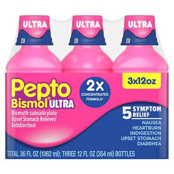 Pepto Bismol Ultra 5 Sintomas alívio digestivo – 354 ml Cada