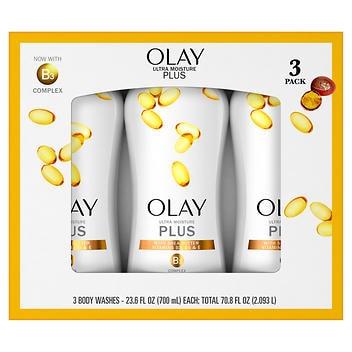 Sabonete Corporal Liquido Olay Ultra Moisture Plus – 700ml Cada pacote com 3