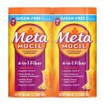 Suplemento de fibra de metamucil, sem açúcar de laranja- 1508 g