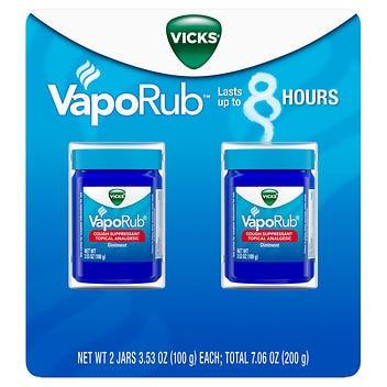 Vicks VapoRub supressor de tosse e analgésico tópico- 100g Cada