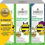 Xarope para tosse das crianças dos naturais de Zarbee + muco dia e noite-118ml cada