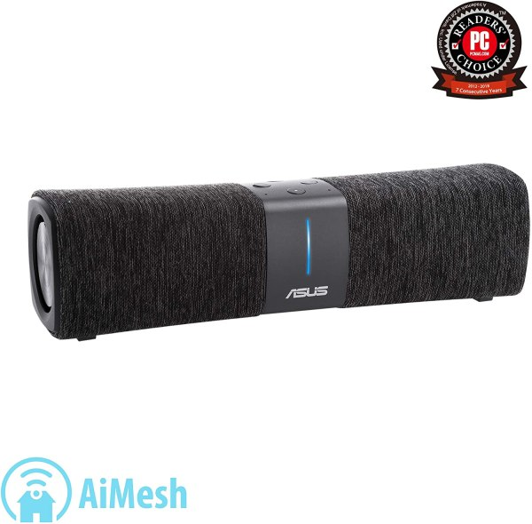ASUS Lyra Voice Wireless AC2200 – Roteador Wi-Fi de malha tripla e alto-falante Bluetooth preto