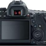 Câmera Canon US 26.2 EOS 6D Mark II com tela LCD de 3 polegadas.