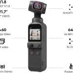 DJI Pocket 2 – Estabilizador portátil de cardan de 3 eixos com câmera 4K,.