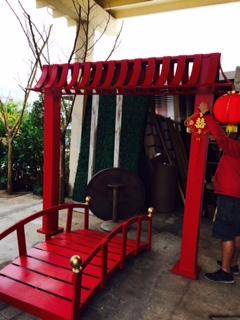 Chinese Pagoda And Bridge Miami Prop Rental