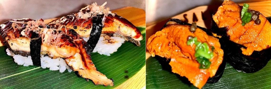 Unagi Nigiri & Sea Urchin Nigiri