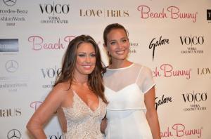 Angela Chittenden of Beach Bunny Swimwear with Hannah Davis