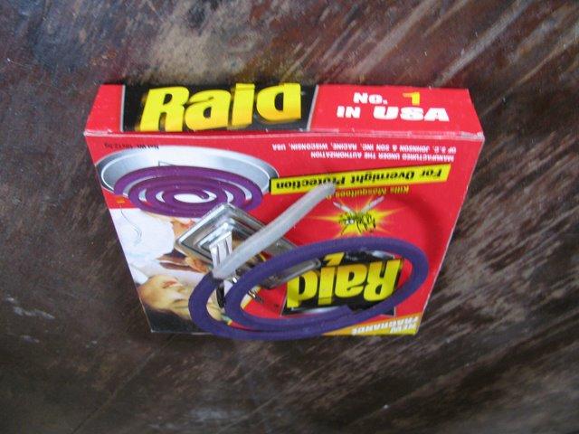 Raid mosquito coils, Phnom Penh, Cambodia