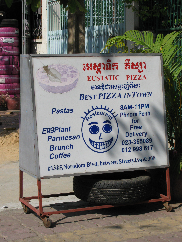 Ecstatic Pizza, Norodom Boulevard, Phnom Penh