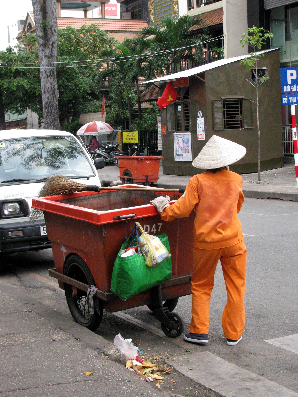 Dumspter lady, Saigon, Vietnam