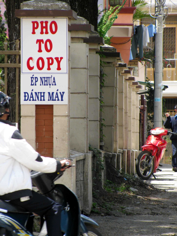 Copy shop, Dalat, Vietnam
