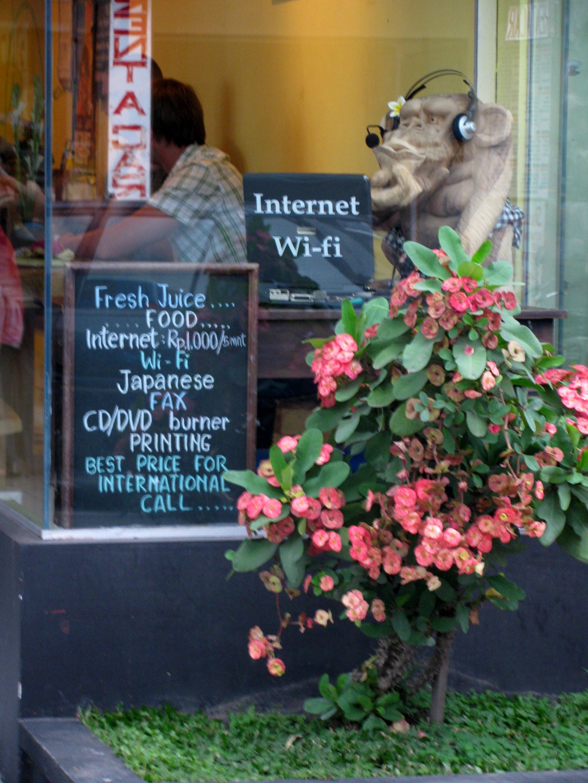 Cafe, Monkey Forest Road, Ubud, Bali, Indonesia