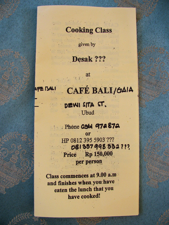 Brochure, Ubud, Bali, Indonesia