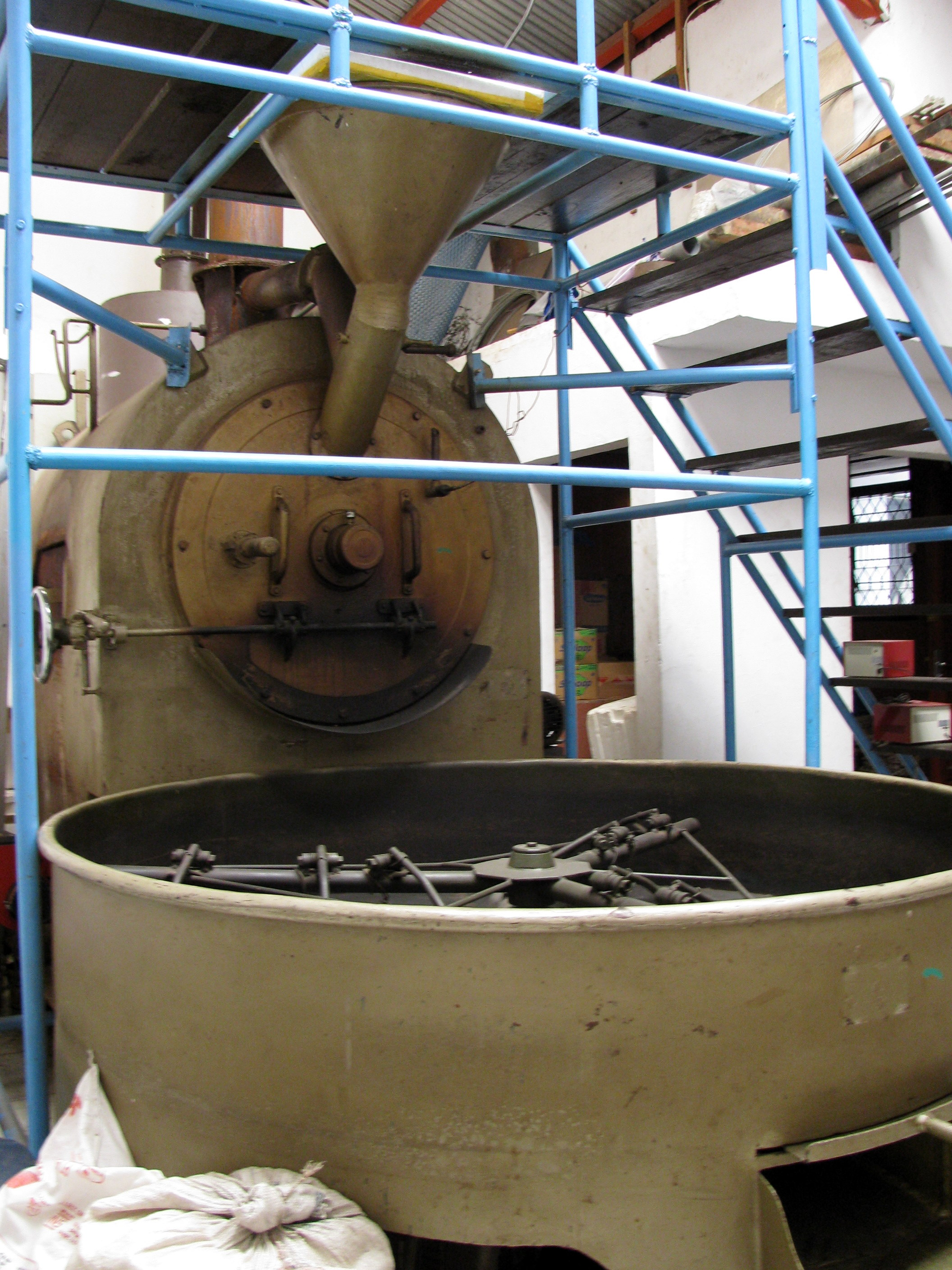 Coffee roaster, Ruteng, Flores, Indonesia