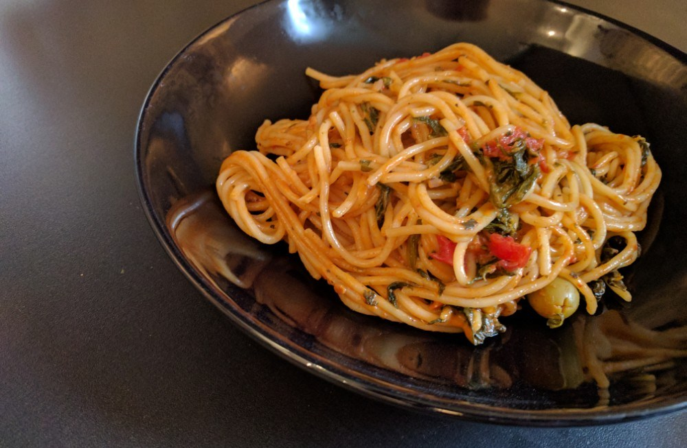 One Pot Pasta – Tomate & Spinat