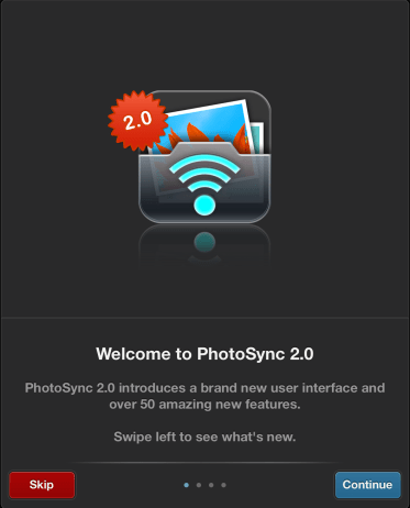 Source: PhotoSync 2.0 App