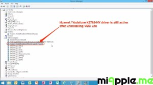Huawei / Vodafone K3765-HV Installation on Windows 8 / 8.1: Huawei / Vodafone K3765-HV driver is still active after uninstalling VMC Lite