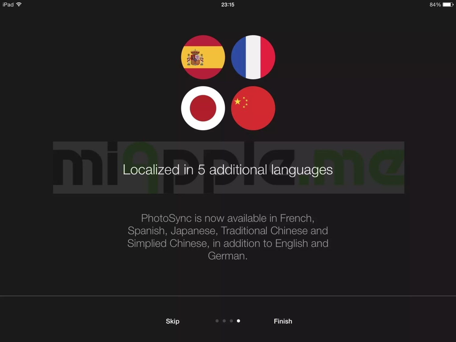 PhotoSync 2.1 features: 5 additional languages