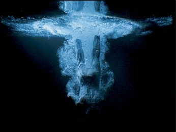 "Bill Viola, Five Angels for the Millennium [detail] ""Ascending Angel"", Video/sound installation, 2001"