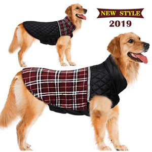 FairyMe Dog Sweaters Winter Reversible Updated Style Waterproof
