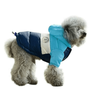 PET ARTIST Dog Winter Coat Hoodie Snowsuit Apparel with Leash Hole