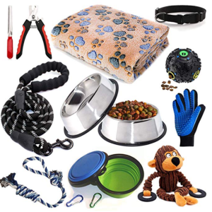 Puppy Starter Kit,12 Piece Dog Supplies Assortments
