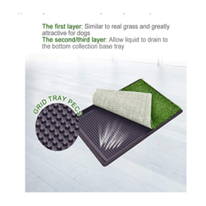 Giantex Dog Puppy Pet Potty Pad Home Training Toilet Pad Grass Surface Portable Dog Mat Turf Patch