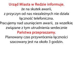 Urząd Miasta wRedzie informuje!