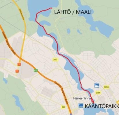 Kilpasarjan reitti, 14 km
